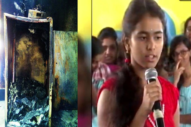 Fridge blast, Young girl Deepika shot dead, Fridge, Fridge blast in home