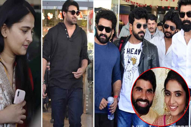 Tollywood Stars, Rajamouli's Son marriage, Rajamouli son Jaipur marriage, Tollywood young heros