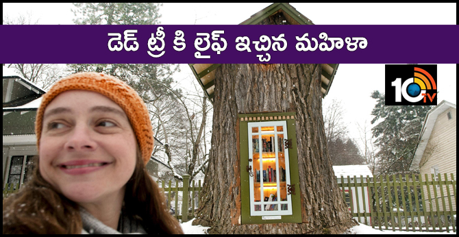 A Woman Turned a 110 Year Old Dead Tree into a Little Free Library