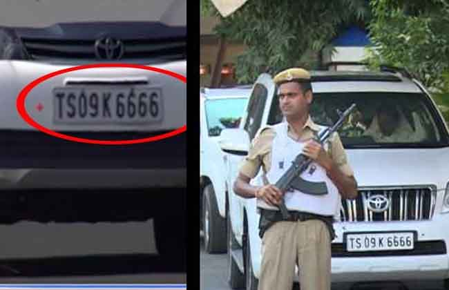 CM KCR Conway Dummy Number Plate