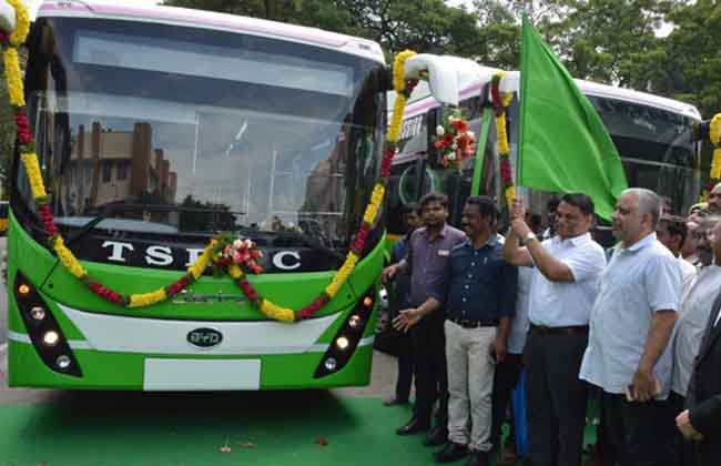 Electric Bus Trial Running in Hyderabad