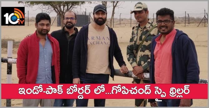 Gopichandh Spy Thriller Movie Shooting At Jaisalmer