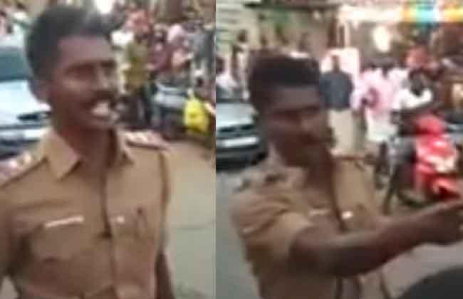 TN Cop Who Dared Protestors to Attack Buses During Kerala 'Hartal' - Mohan Iye