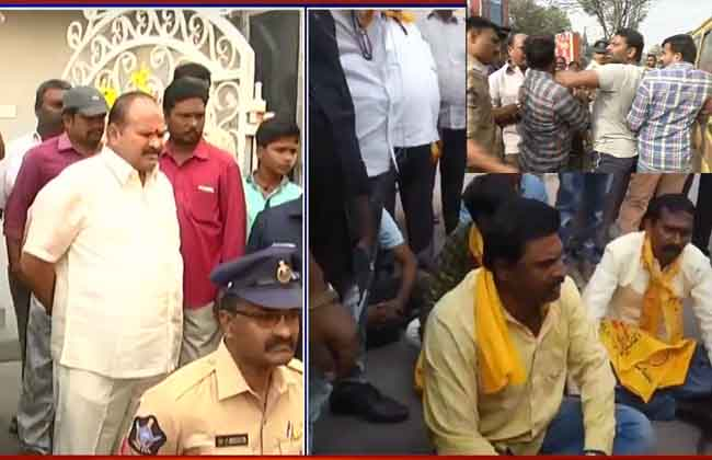 BJP and TDP activists clash in Guntur