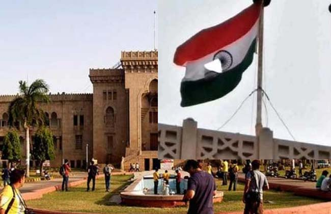 The national flag in the Osmania University is a shame