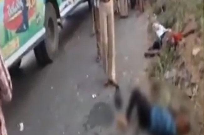 road accident in prakasham : Four killed