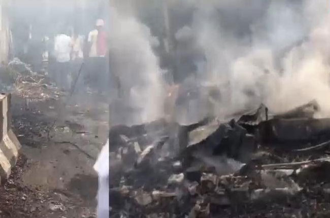 Fires comes in control at nampally exibition ground