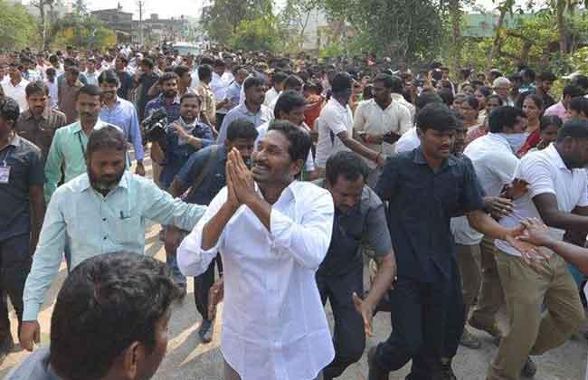 jagan fans offering coconuts