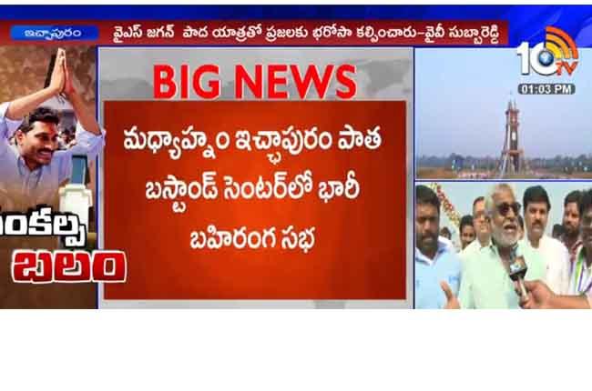Ys Jagan Padayatra Benefits : YV Subba Reddy Face To Face From Ichapuram | 10TV