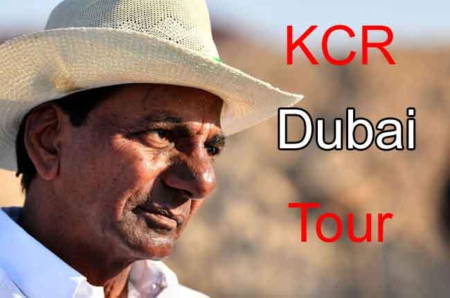 Telangana CM KCR Dubai Tour KCR Attend Investor's Meet | 10TV