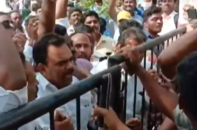Arrested ycp leaders by midnight : Tensions in Nellimarla