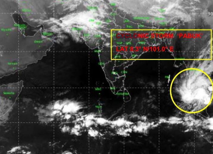 cyclone pabak moves towards andaman