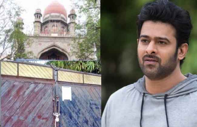Prabhas Guest House case Telangana government  High Court questions