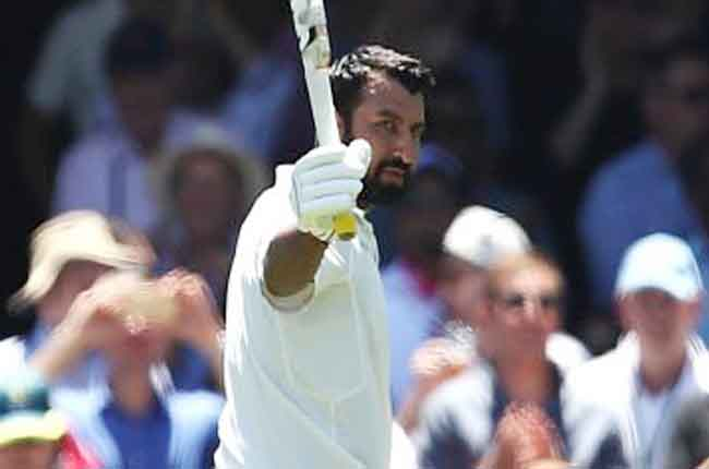 cheteshwar walks back after scoring Team India AUS vs IND | 10TV