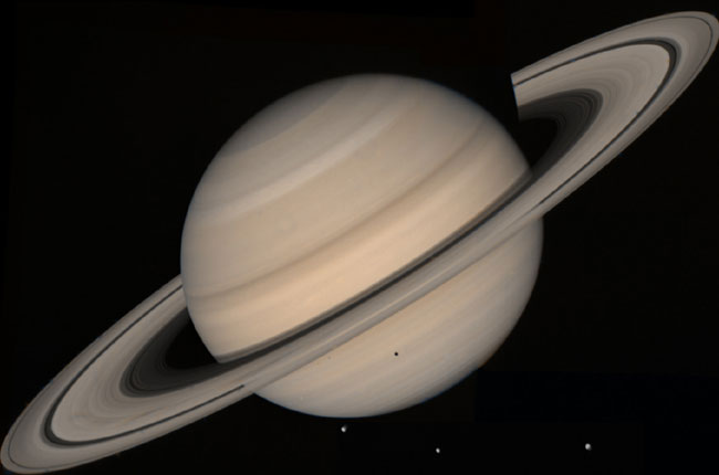 Saturn created by 450 million years ago