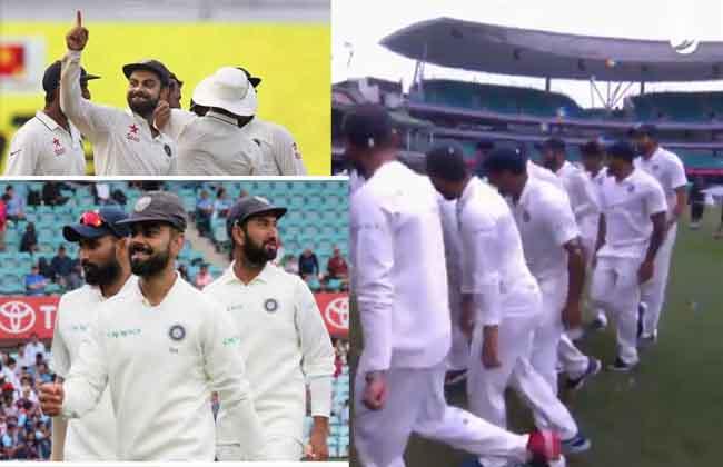 India  team Revenge dance in Australia Sydney in Australia..