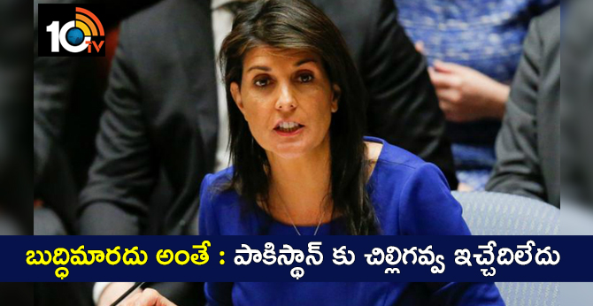 America Should Not Give Aid to Pakistan Till it Stops Harbouring Terrorists, Nikki Haley