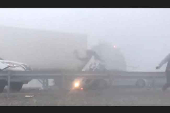 Massive Accident At Highway Due To Heavy Fog