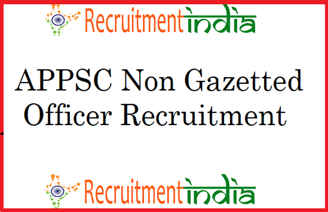 Apply Online Application For Non Gazetted Post In AP