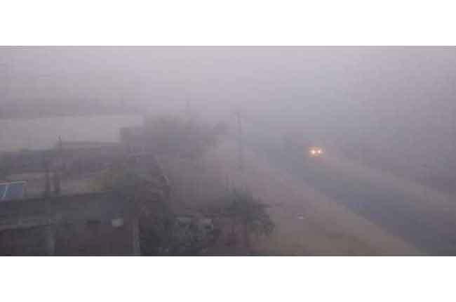 telangana villages covered dense fog