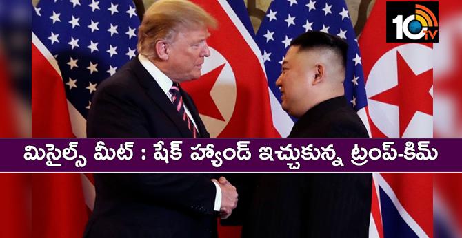 Trump, Kim share handshakes, laughs, small talk