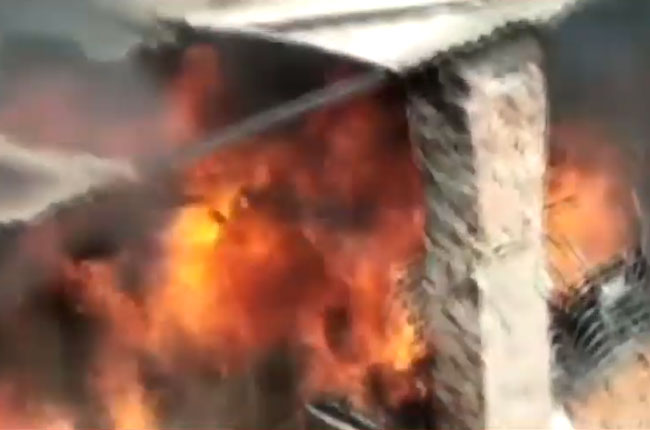 Heavy fire Accident at Lucknow in uttarpradesh