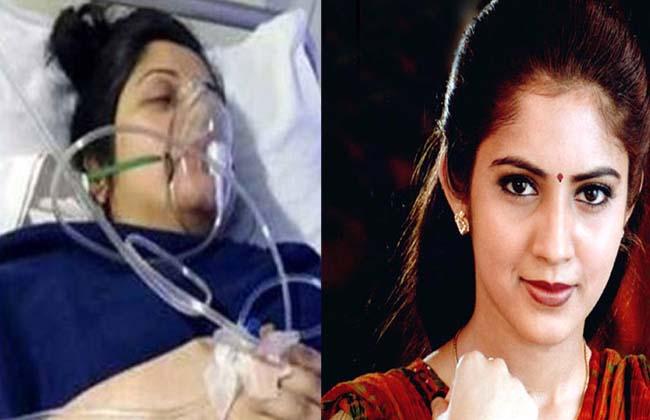 kannada heroine vijayalakshmi hospitalized