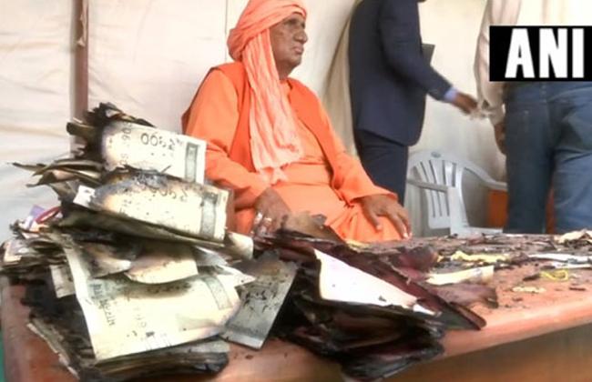 Fire Accident in Kumbh Mela:Burned cash