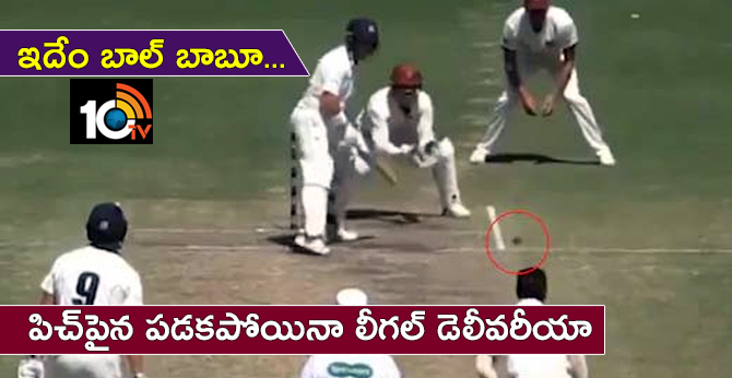 no ball but umpire declared it as legal delivery