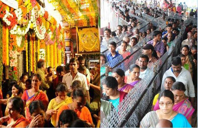 Heavy Rush At Vemulawada Temple Today