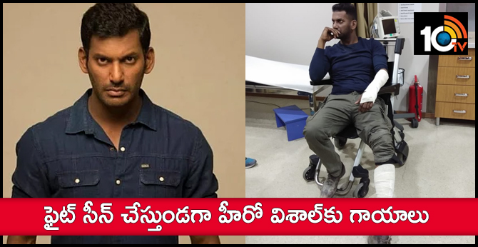 Actor Vishal injured during the shoot of Tamil movie