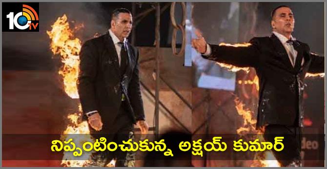 Akshay Kumar shocked everyone when he set himself on fire