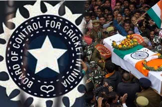pulwama martyrs : BCCI Donates RS 20 Crores