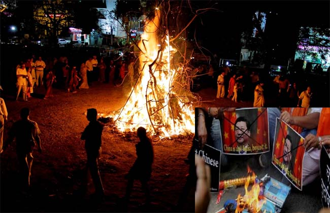 China products ban in Holi celebration..