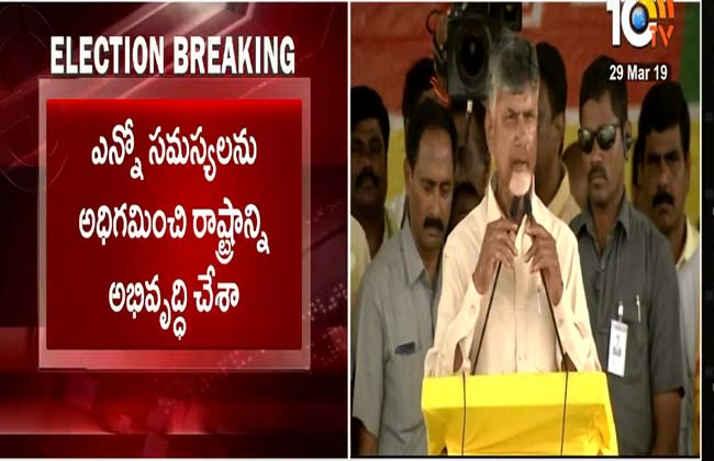 I will not tell you after the election in In the election campaign, CM Chandrababu assures