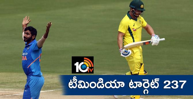 INDVAUS: team india target 237