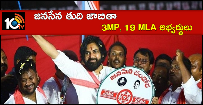 Janasena Final List 3 Mp's, 19 MLA Candidate List
