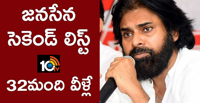 Janasena Releases Second List of Candidates