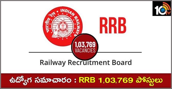 Railway RRB Group D Notification 1,03,769 posts