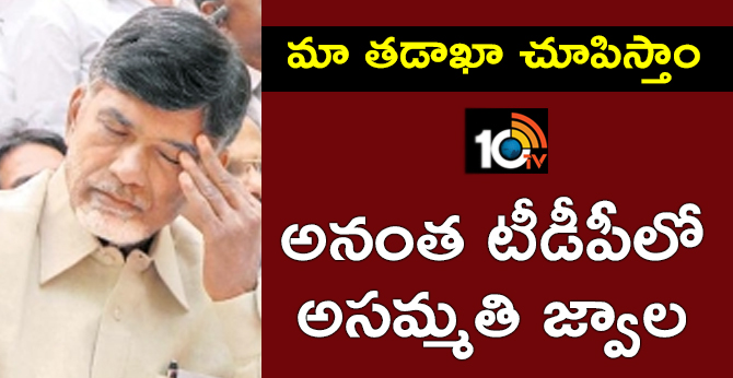 Rebels Problems In Ananthapuramu TDP