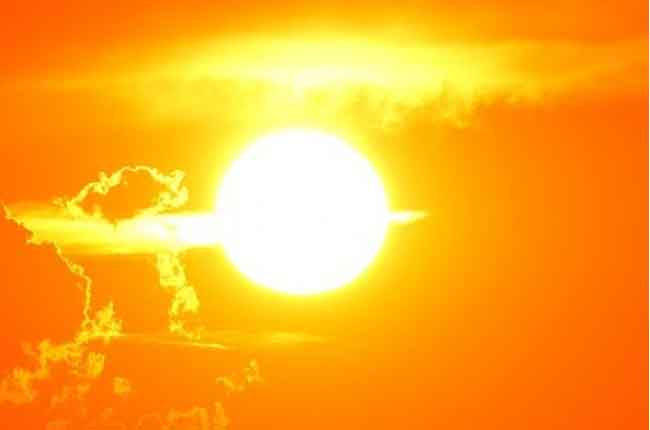 today and tomorrow high intensity of the sun