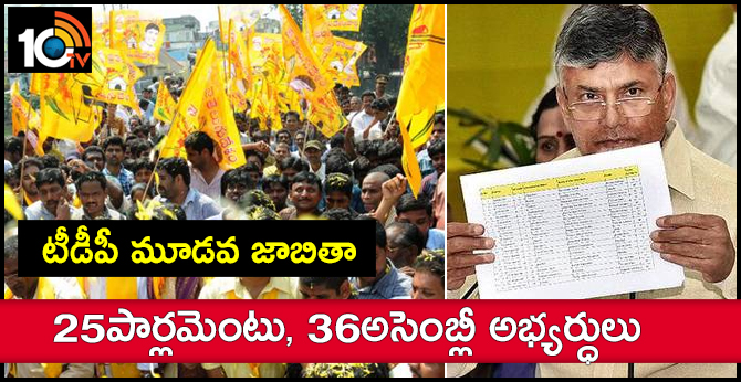 TDP to Release Third List of MLA Candidates