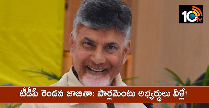 Tdp Candidates Second List