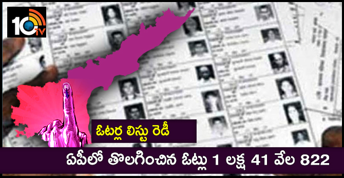 Voters list ready : Deleted votes in AP are 1 lakh 41 thousand 822