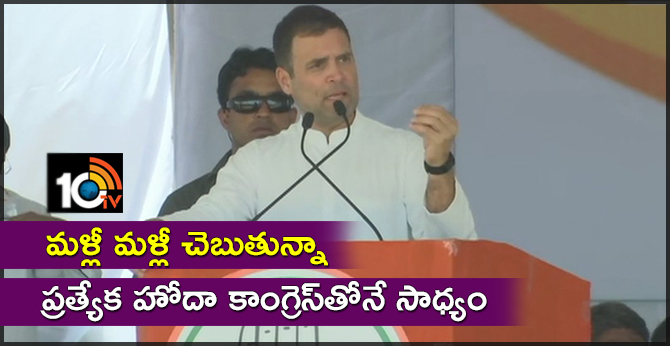 ap special status possible with congress only, rahul gandhi