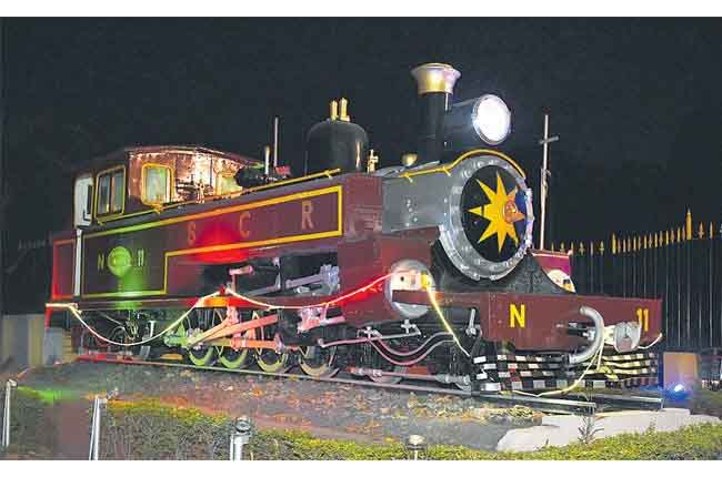 Sir Alec the Heritage Steam Locomotive old rail engine