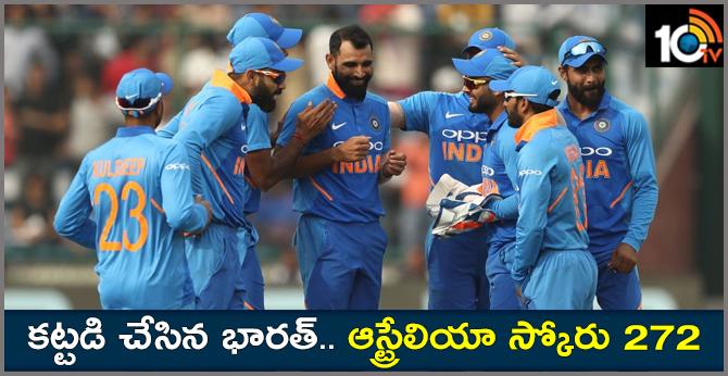 INDvAUS: TEAM INDIA TARGET 273