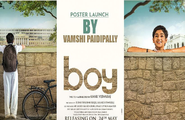 Boy Movie First Look Poster Launch By Vamsi Paidipally In Maharshi Set