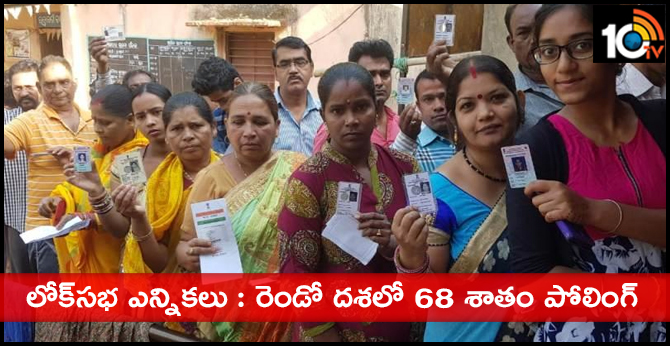 68 percent polling in second phase of Lok Sabha elections