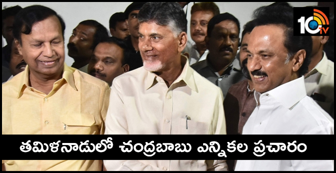 AP CM Chandrababu Naidu to campaign for DMK , Congress in Tamil Nadu